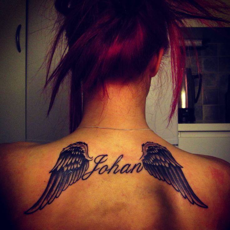 tattoo wings rip in memorie of my big brother tattoos pinterest tattoo wings neck. Black Bedroom Furniture Sets. Home Design Ideas