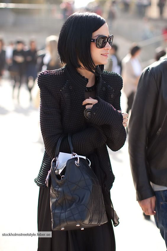 and another leigh lezark..I think I've pinned this already but I need this jacket! Love her dark hair too!