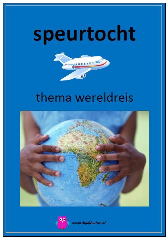 Digitaal boek: Speurtocht - thema wereldreis.