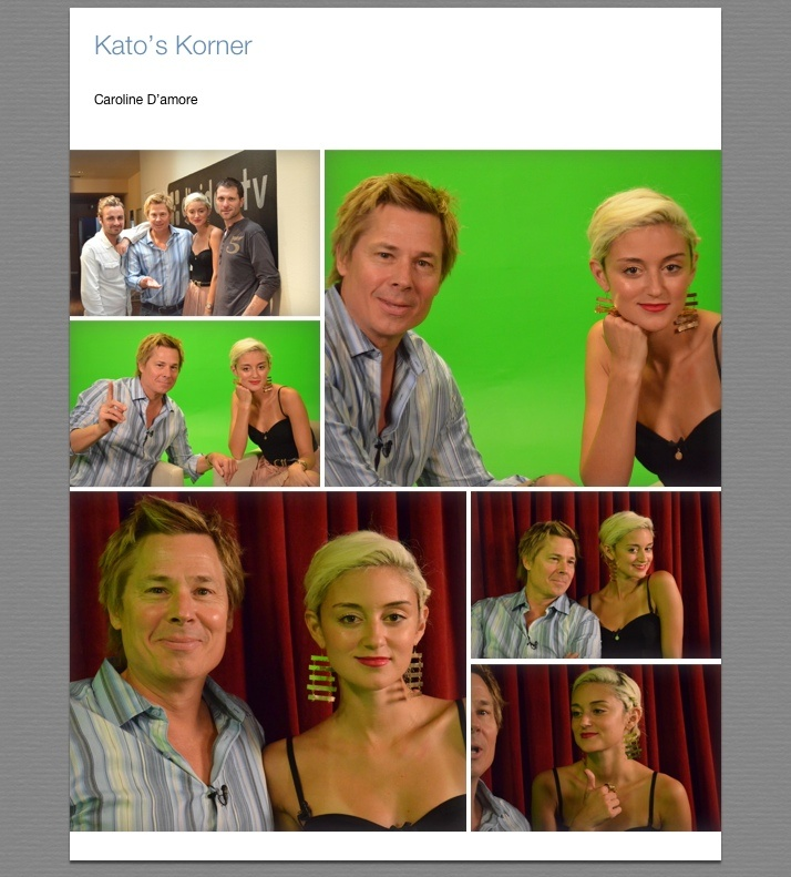 Taping another episode of Kato's Korner today with Kato Kaelin and his guest Caroline D'Amore. Only on DigiDev TV. http://www.digidev.tv/