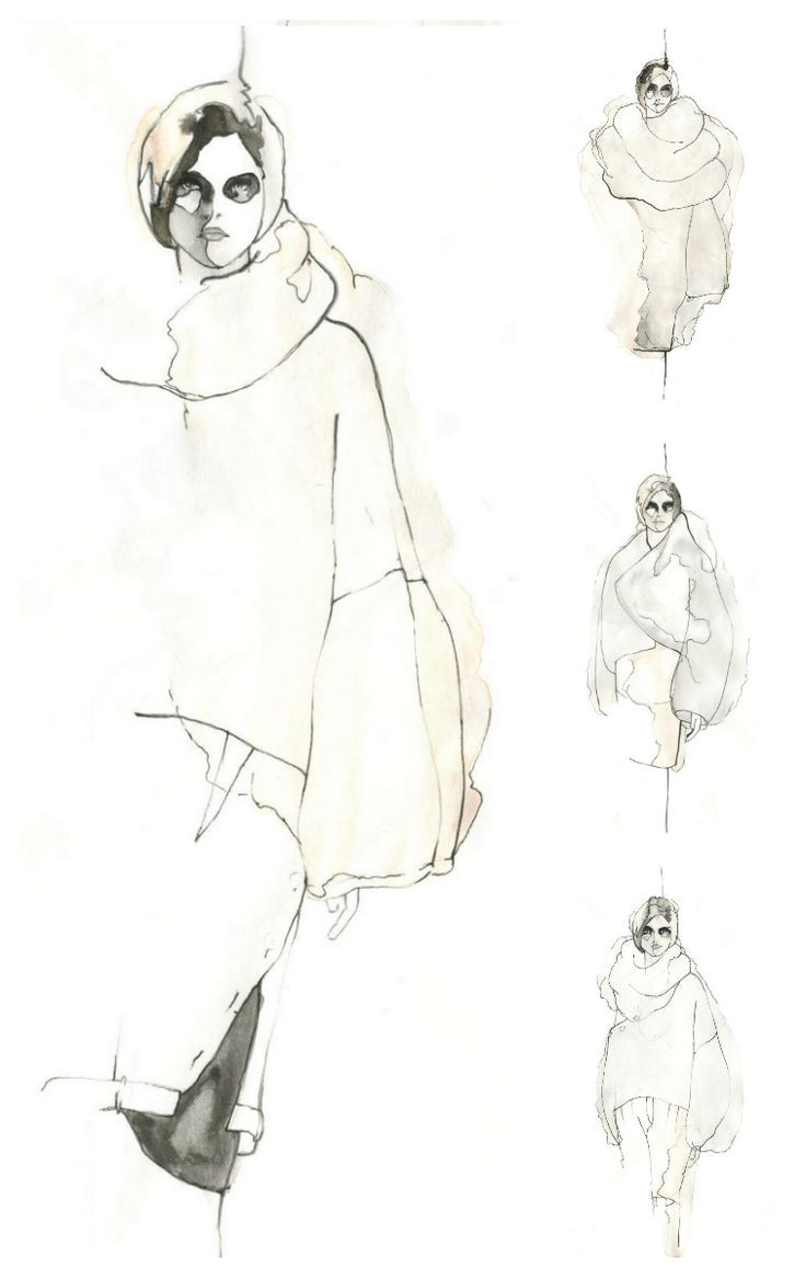 Fashion Sketchbook - fashion illustrations for knitwear collection; fashion portfolio // Vanessa Barragao