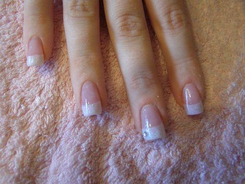 white glitter nail tips Glitter Nail Tips