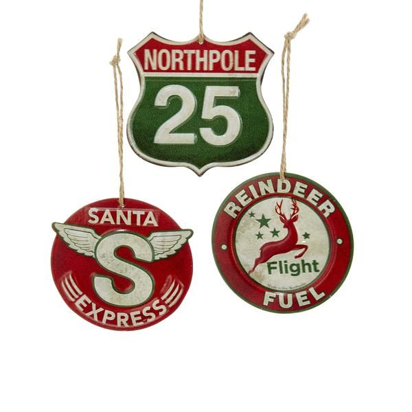 All aboard. Santa Express will be taking flight soon! We'll be flying up route 25 to the Northpole. Retro North Pole Station Signs will have you there in no time!