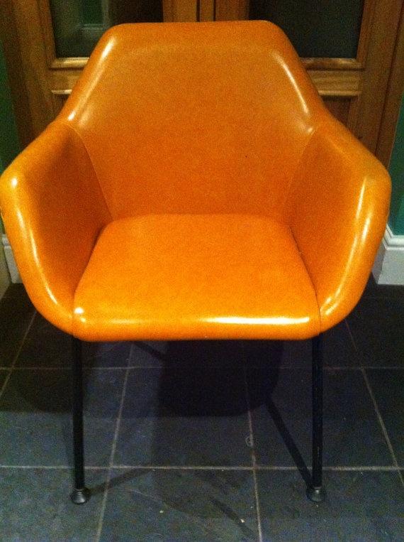 Orange Vinyl 1960's Chair