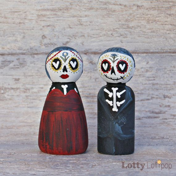 Mini Tag der Toten Sugar Skulls Hochzeitstorte von LottyLollipop