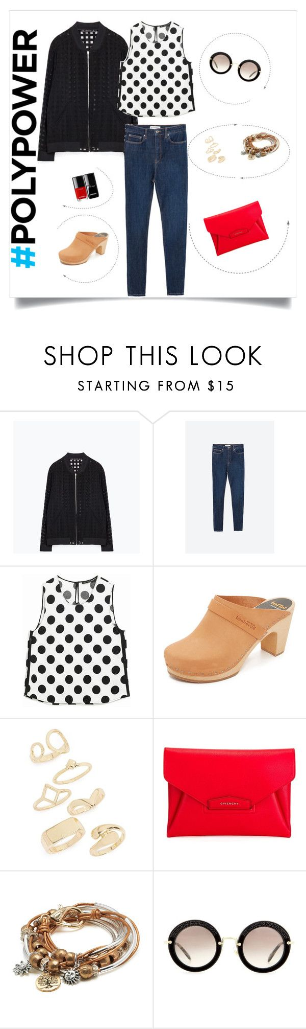 """My Power Outfit"" by fashion-mama-aquarius on Polyvore featuring Zara, Swedish Hasbeens, Topshop, Givenchy, Lizzy James, Miu Miu and PolyPower"