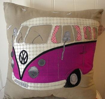 Purple Camper Van Cushion, £64.50 - love!