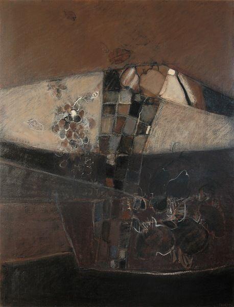 sur des lignes et des couleurs: XII - 116x89 - huile sur toile, Catherine Severac