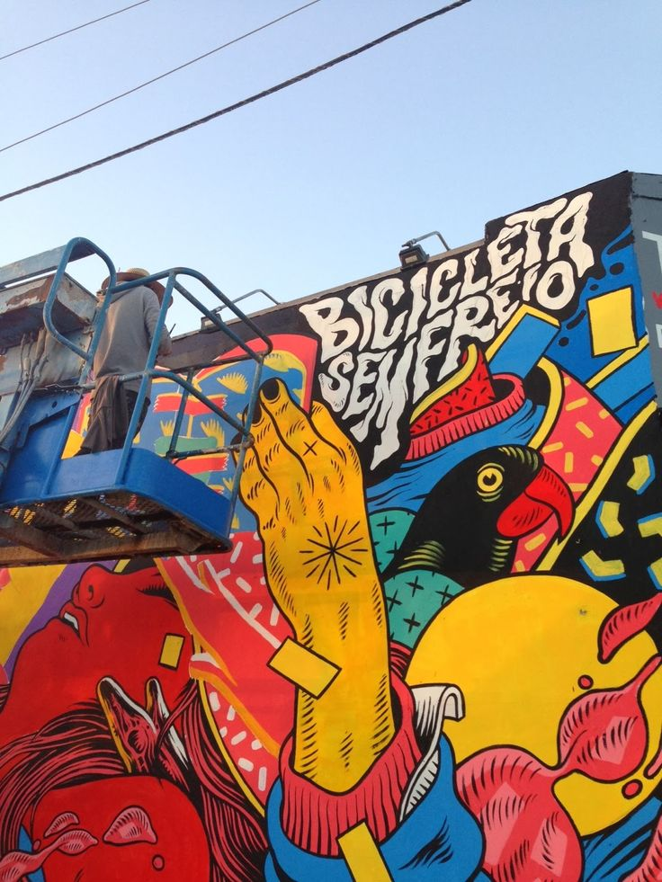 Bicicleta Sem Freio New Mural For Rise Above - Wynwood, Miami