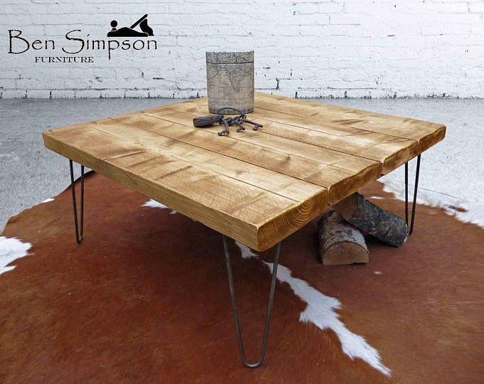 17 3 4 De Haut X 22 1 2 X 47 De Large Dessus De Table Est 3 1 2 D Epaisseur Planches De B Coffee Table Rustic Coffee Tables Square Wooden Coffee Table