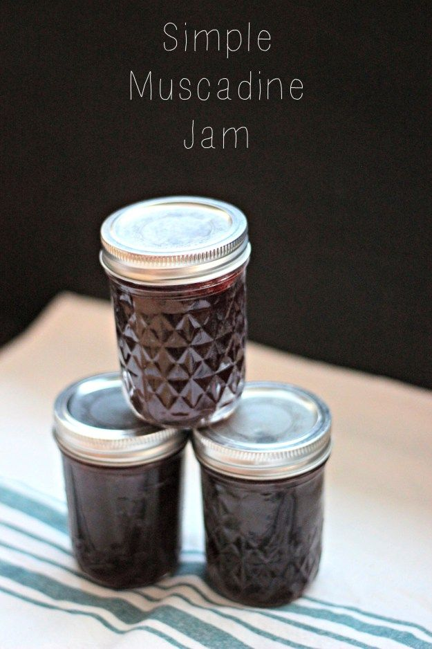 Simple Muscadine Jam | Oysters & Pearls