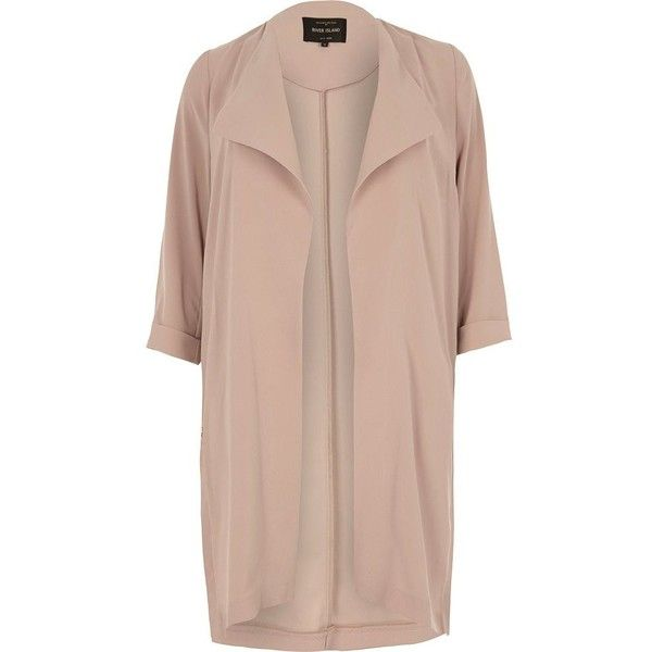 River Island Plus light pink popper duster coat ($120) ❤ liked on Polyvore featuring outerwear, coats, coats / jackets, jackets, pink, women, plus size duster coat, womens plus coats, plus size pink coat and river island coats