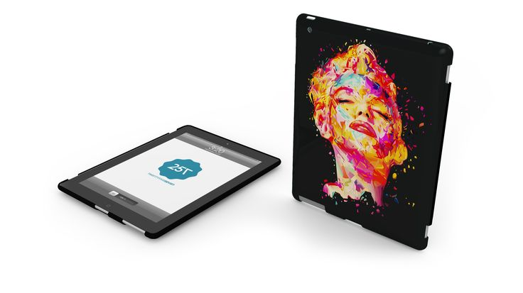SLIM HARD CASE BY KANEDA - A limited edition hard case for iPad and iPad mini with classic design. Available in four different graphics by the italian illustrator Kaneda.  http://www.twentyfive-seven.com/