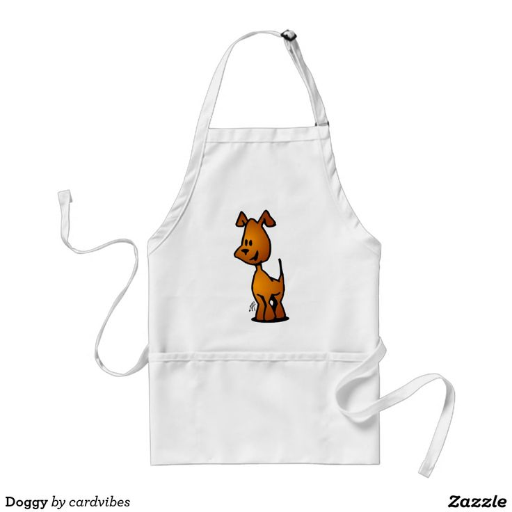 Doggy Adult Apron. #Zazzle #dog #Cardvibes #Tekenaartje #SOLD