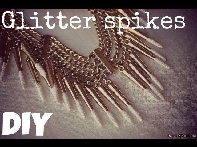 Fashion DIY: Glitter spikes ketting van H&M