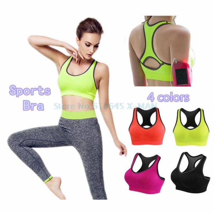 Crop Top Wanita Kebugaran Olahraga Bra Push Up Bernapas Yoga Bra Pakaian Menjalankan Olahraga Bra S3331