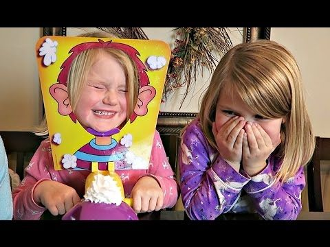 PIE FACE CHALLENGE!!! | MESSY WHIPPED CREAM IN THE FACE GAME - YouTube