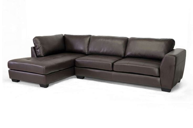 Lowest price on Baxton Studio Orland Brown Leather Modern Sectional Sofa Set With Left Facing Chaise IDS023-SEC-LTB01-Brown LFC. Shop today!