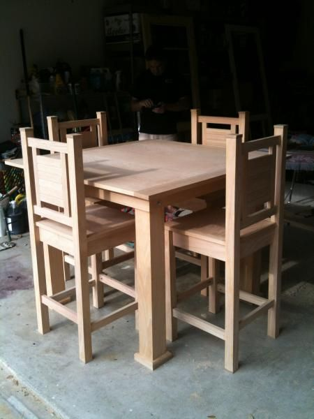 This is my new kitchen table and chairs.  I am super sizing it to seat 12 and making it counter height.