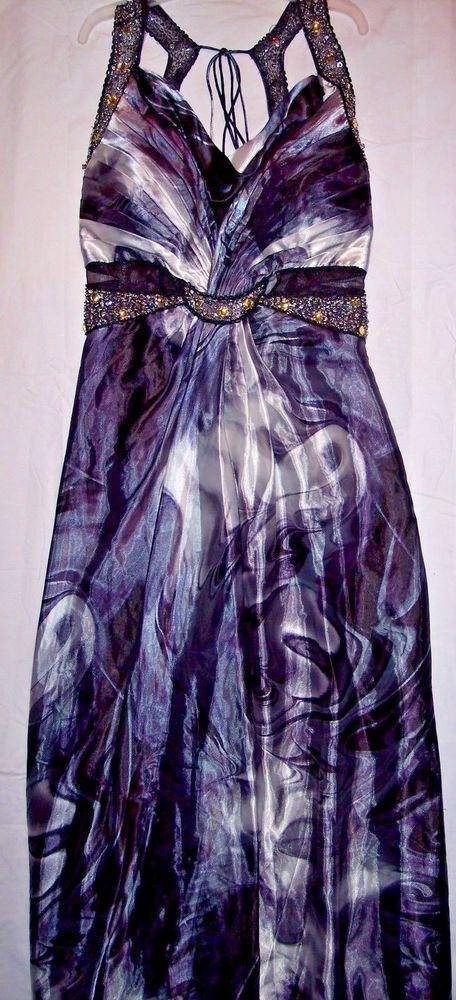 Aspeed size 22 Halter back Black/Silver Formal/Maxi Dress L-815 NWT
