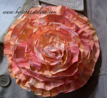 #Crepe Streamer Flowers by Under the Table and Dreaming