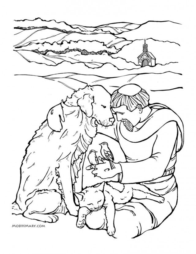 St Francis Of Assisi Colouring Pages Page 3 38669 Saint Francis Of