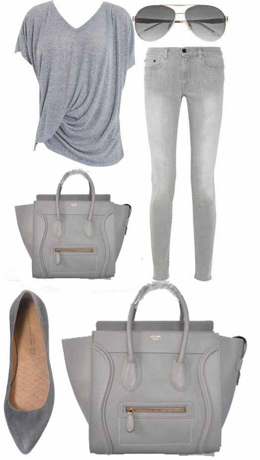 Celine Luggage Handbag In Grey 30CM   #chinabrandwholesale