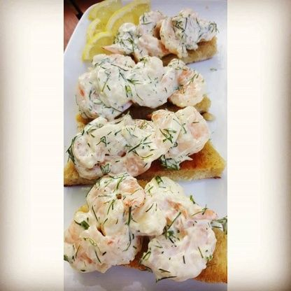Toast Skagen - Swedish - Prawn Toast Recipe - Genius Kitchen