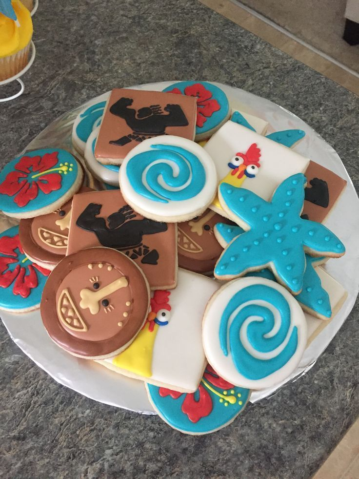 Maui Cookies For Moana Birthday Party A Little Boy Love