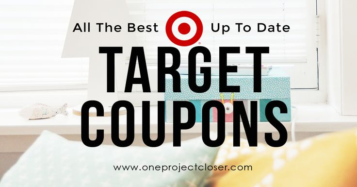 Get all the best and up to date Target coupons on the web from One Project Closer!