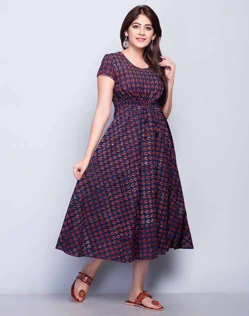 Cotton Bagru Bias Dress