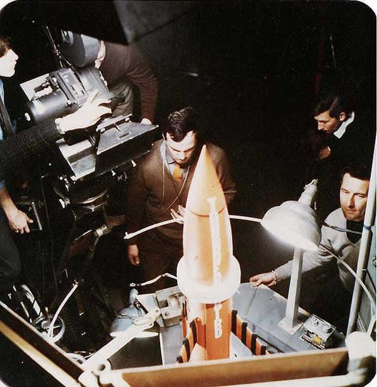 shooting Thunderbird 3's silo — possibly a shoot for the tour from the Security Hazard episode