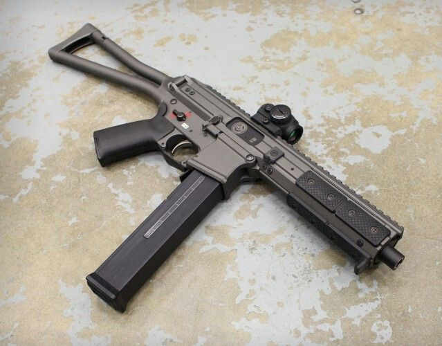 "LWRC SMG-45 available in 3 calibers: .45 acp, .9mm, and .40 S&W. The SMG-45 takes HK UMP magazines. -Pistol  -Pistol w/ stabilizing brace  -Factory SBR w/ folding stock  -Factory SBR with mil-spec buffer tube  -16"" carbine version with folding stock"