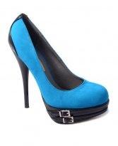 Pantofi Lovely Velvet Blue