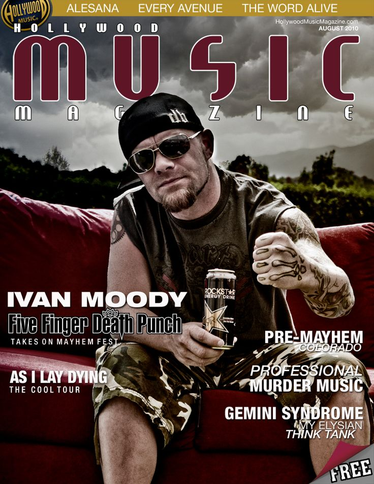 Hollywood music mag cover