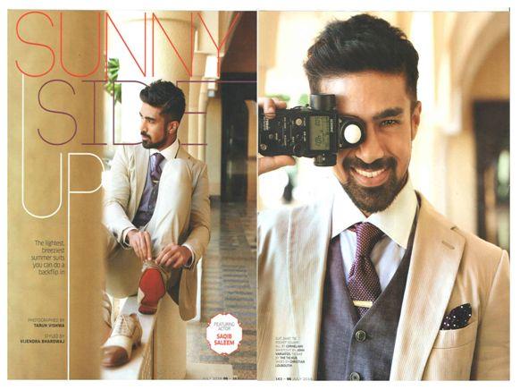Actor Saqib Saleem rocks the look in Corneliani for GQ India