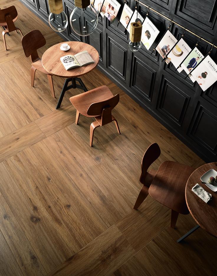 #Marazzi | #Treverktrend | #floor | #contract | #woodtiles | #restaurant