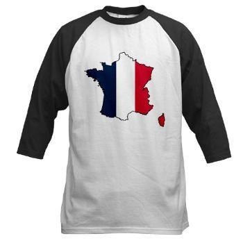 Flag Map of France Baseball Jersey