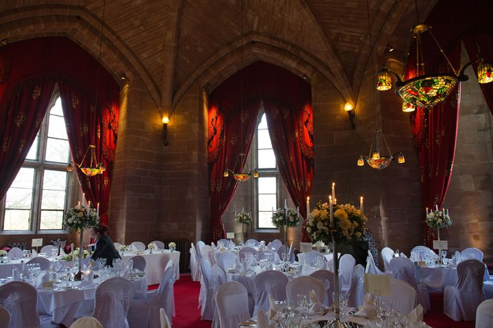 The Hexagonal Room at Peckforton Castle