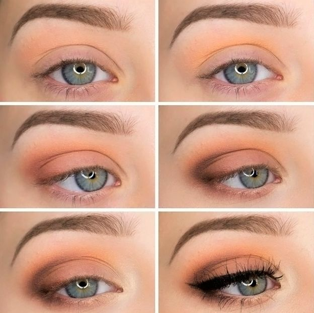 Fall eye makeup idea for blue eyes