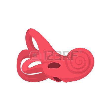 oreille interne: Inner icône de bande dessinée de l'oreille sur un fond blanc