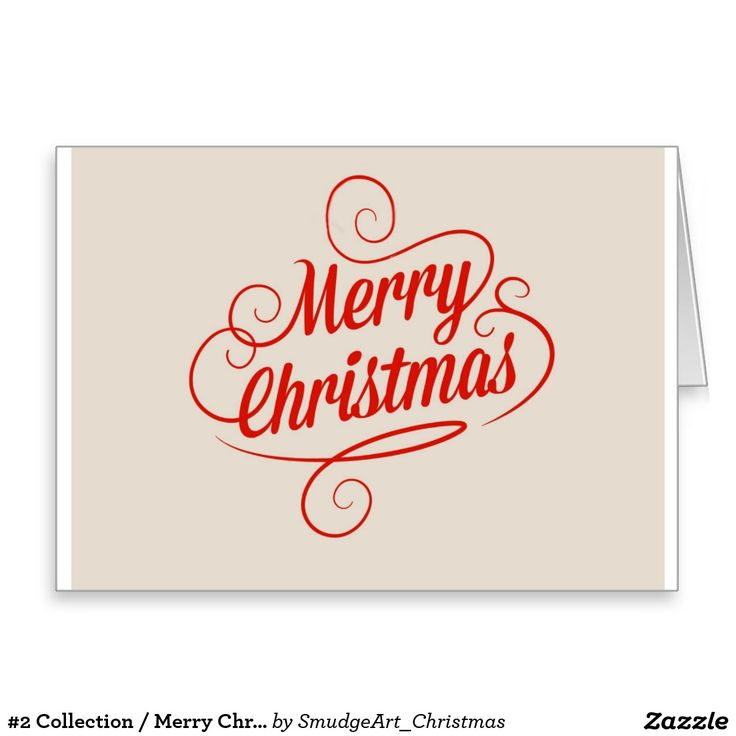 #2 Collection / Merry Christmas Greeting Card
