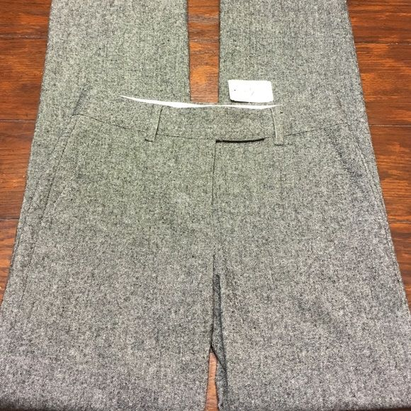 Saks Fifth Avenue Size 6 Grey Tweed Trousers New with tag ,,wool/polyester/spandex blend Saks Fifth Avenue  Pants Trousers