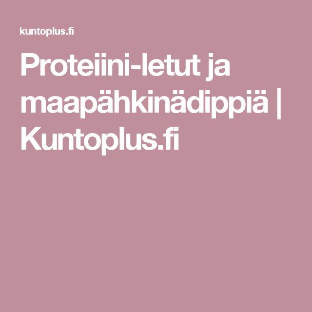 Proteiini-letut ja maapähkinädippiä | Kuntoplus.fi