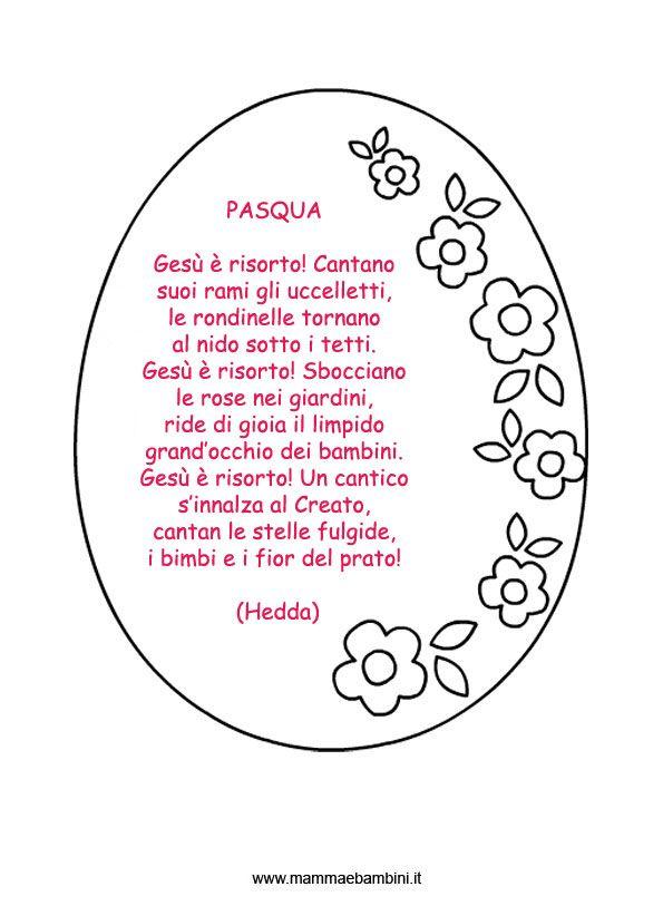 """Poesie da stampare """"Pasqua"""""""