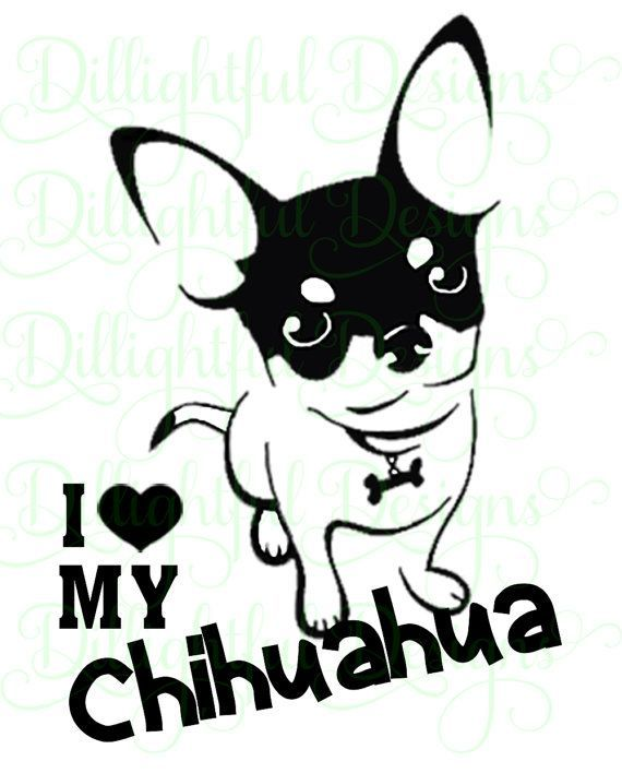 Download DOWNLOAD - Chihuahua Decal Digital SVG Decal Download ...