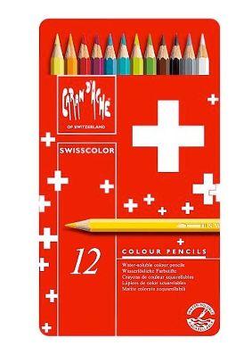 Caran D'ache Swisscolor Colouring Pencil Tin - 12pc
