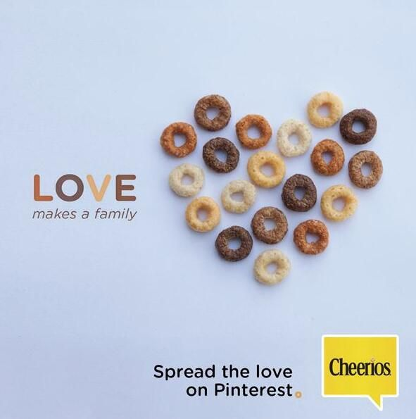 Love makes a family - LOVED this Cheerios campaign!!!