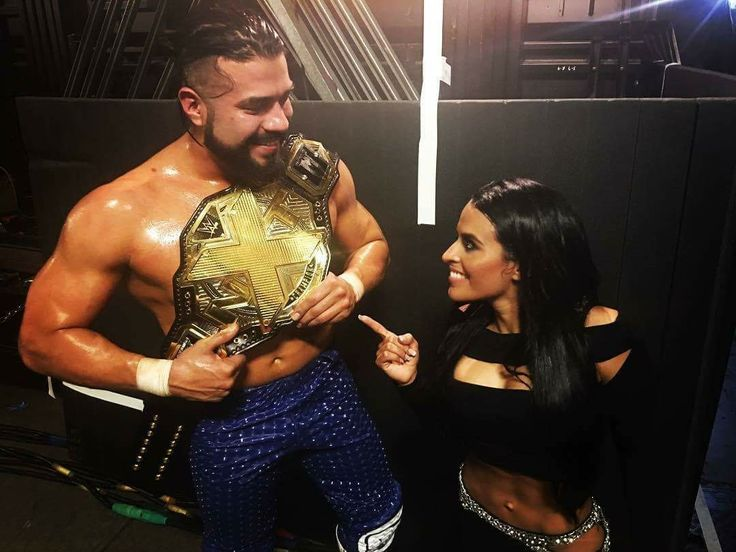 WWE NXT Superstars Andrade Cien Almas and Zelina Vega