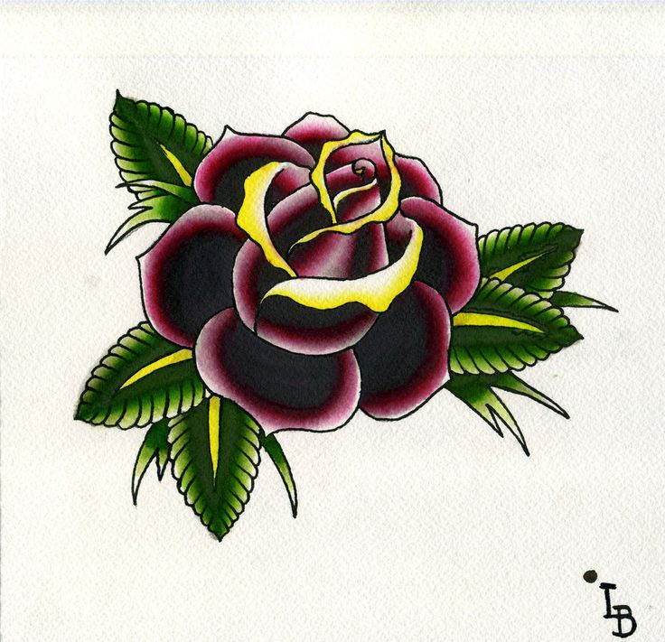 Traditional roses | Traditional Rose Watercolor by ~massagepunk on deviantART
